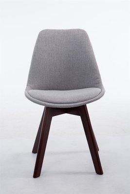 Bezoekersstoel Birnii V2 Stof Grijs,walnuss