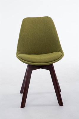 Bezoekersstoel Birnii V2 Stof Groen,walnuss