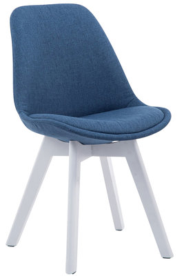 Bezoekersstoel Birnii V2 Stof Blauw,Wit