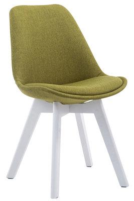 Bezoekersstoel Birnii V2 Stof Groen,Wit