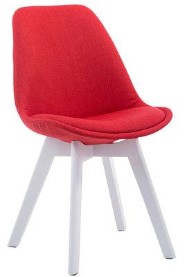 Bezoekersstoel Birnii V2 Stof Rood,Wit