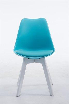 Eetkamerstoel Birnii V2 Kunstleer Blauw,Wit