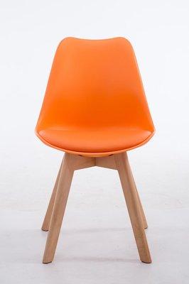 Eetkamerstoel Birnii V2 Kunstleer Oranje,natura