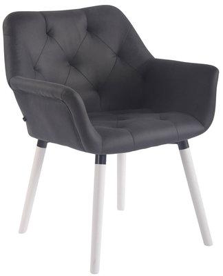 Bezoekersstoel  Cissady Vintage kunstleer Zwart,Wit