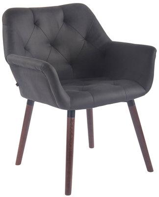 Bezoekersstoel  Cissady Vintage kunstleer Zwart,walnuss (eiche)