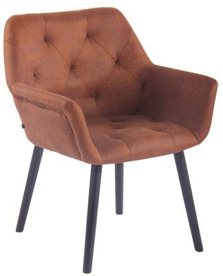 Bezoekersstoel  Cissady Vintage kunstleer Bruin,Zwart (eiche)