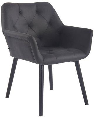 Bezoekersstoel  Cissady Vintage kunstleer Zwart,Zwart (eiche)