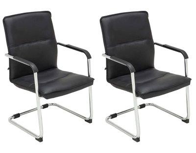 Set van 2 bezoekersstoelen Siittli kunstleer Zwart