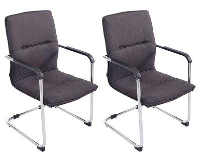 Set van 2 bezoekersstoelen Siittli Grijs