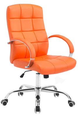 Bureaustoel Mokis Kunstleer Oranje