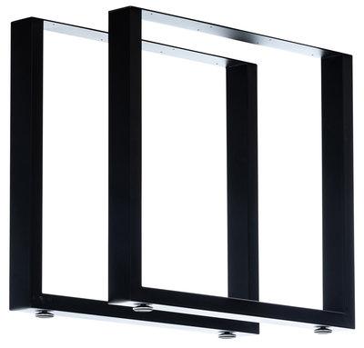 2x Tafelpoten Vildin Zwart,80 cm