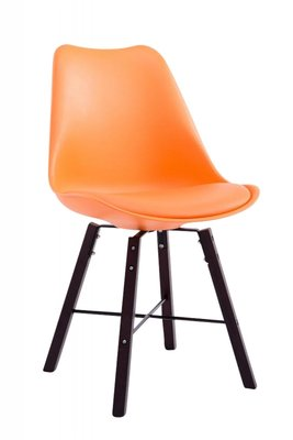 Eetkamerstoel Lorelai Oranje - Onderstel: Cappuccino