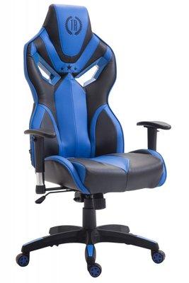 Gaming Stoel Dylan Kunstleer Blauw (ideaal voor lange of zware personen)