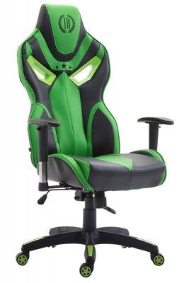 Gaming Stoel Dylan Kunstleer Groen (ideaal voor lange of zware personen)