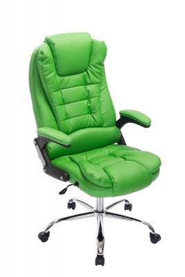 Bureaustoel Avery Groen-Leer-Comfortabel zitten