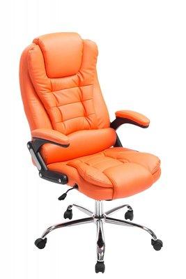 Bureaustoel Avery Oranje-Leer-Comfortabel zitten