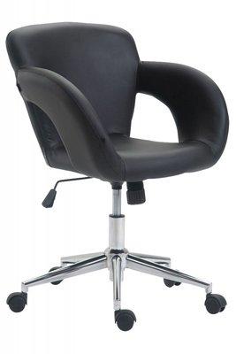 Bureaustoel Ainhoa Zwart-Leer-Trendy-Modern