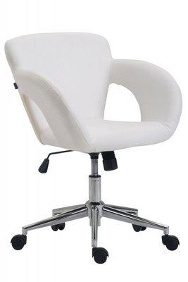 Bureaustoel Ainhoa Wit-Leer-Trendy-Modern