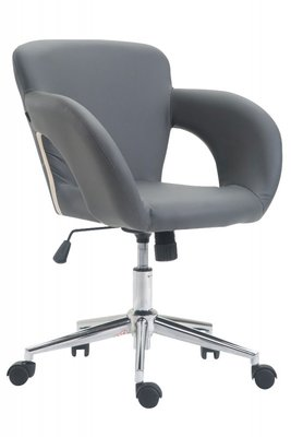 Bureaustoel Ainhoa Grijs-Leer-Trendy-Modern