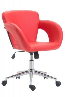 Bureaustoel Ainhoa Rood-Leer-Trendy-Modern