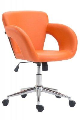 Bureaustoel Ainhoa Oranje-Leer-Trendy-Modern