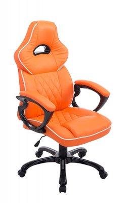Gaming Stoel Enzo Oranje (brede zitting - zware belasting)