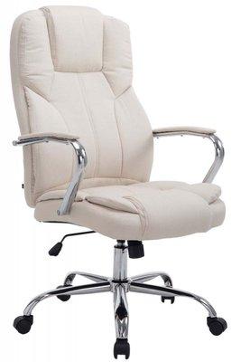 Bureaustoel Oumayra Stof Creme (brede zitting - zware belasting - ideaal voor grote en zware personen)