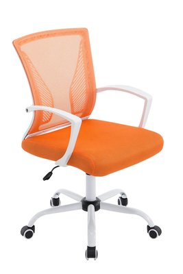 Bureaustoel Claartje Oranje-Netbekleding-Modern-Trendy