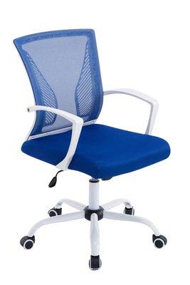 Bureaustoel Claartje Blauw-Netbekleding-Modern-Trendy