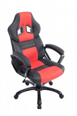 Bureaustoel Dylinne Zwart/Rood