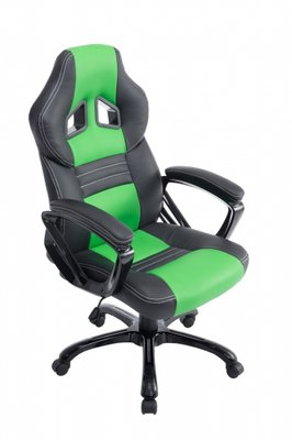 Bureaustoel Dylinne Zwart/Groen