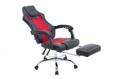 Bureaustoel Wies met Voetensteun Zwart/Rood