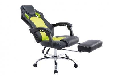 Bureaustoel Wies met Voetensteun Zwart/Groen
