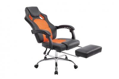 Bureaustoel Wies met Voetensteun Zwart/Oranje