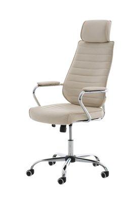 Bureaustoel Romsaya Leer Creme - Comfortabel