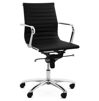 Bureaustoel Dallas Zwart-Design-Leer