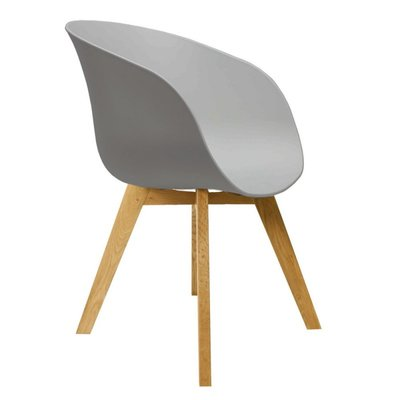 Eetkamerstoel Nocco Grijs (design - modern - kunststof/hout)