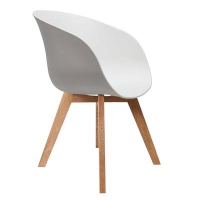 Eetkamerstoel Nocco Wit (design - modern - kunststof/hout)