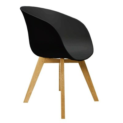 Eetkamerstoel Nocco Zwart (design - modern - kunststof/hout)