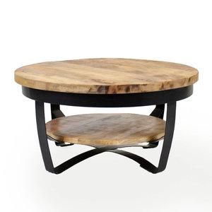 Salontafel Balder hout 70x35 cm massief mangohout