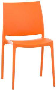 Stapelstoel Miai Oranje