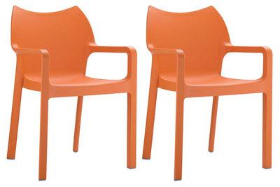 2er SET stapelstoel Davi Oranje