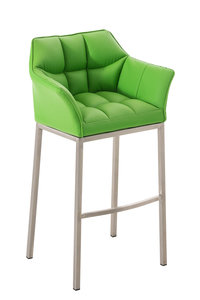 Barkruk Damaso Kunstleer Groen,Metaal