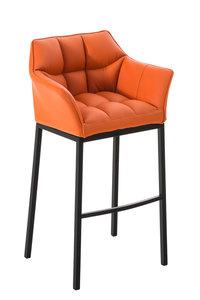 Barkruk Damaso Kunstleer Oranje,Zwart