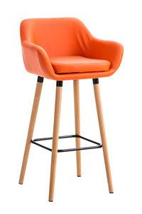 Barkruk Grint Kunstleer Oranje