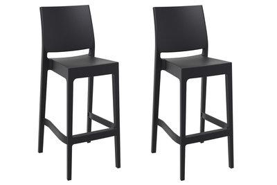 Set van 2 barkrukken Miai Zwart