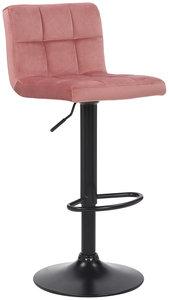 Barkruk Fine fluweel pink,