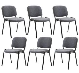 Kin set van 6 bezoekersstoelen Grijs