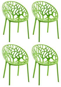 4x Stapelstoel Hepo Groen
