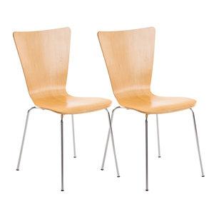 2x bezoekersstoelen Oaran natura,